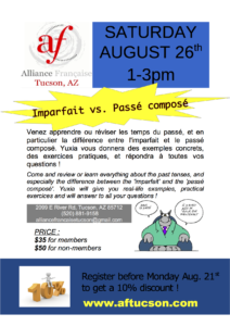 Saturday Workshop: Imparfait vs. Passé composé!