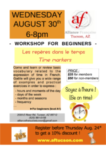 Workshop for beginners: Time markers