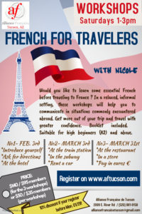 Workshop French for travelers @ Alliance Française Tucson | Tucson | Arizona | United States